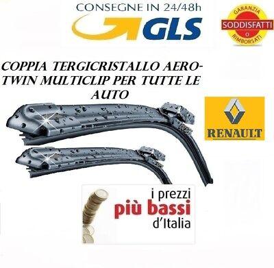 2 Spazzole tergicristallo AEROTWIN RENAULT CLIO III 3 SERIE da 06/2005 a 04/2012