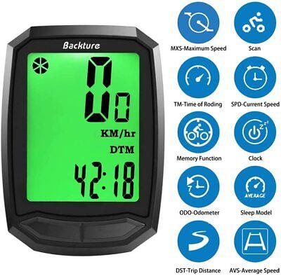 BACKTURE Cuentakilómetros para Bicicleta, Velocímetro inalámbrico para Bicicleta