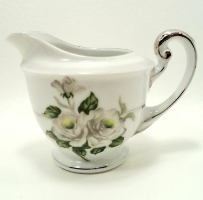Japan China White Rose (WHITE ROSE PLATINUM 3939 by JAPAN FINE CHINA CREAMER PITCHER SYRUP SHIPS FREE)