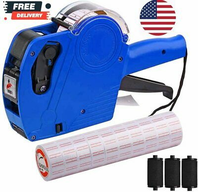 Mx-5500 8 Digits Price Tag Gun With 5000 Sticker Labels And 3 Ink Refill Lab...