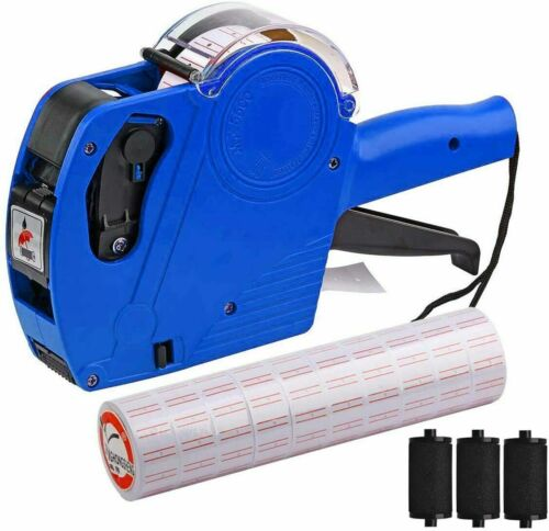 MX-5500 8 Digits Price tag Gun with 5000 Sticker Labels and 3 Ink Refill, Lab...