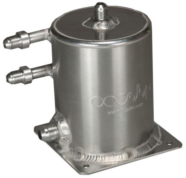 Base Mount 1 Ltr Fuel Swirl Pot with JIC Fittings  OBPJICS23