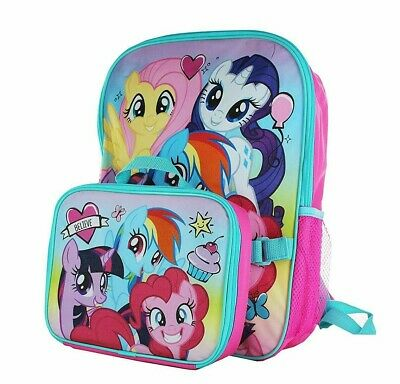 My Little Pony Girls School Backpack Lunch Box Set Rainbow Dash Pink Book Bag](Rainbow Backpack)
