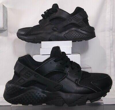 Nike Huarache Run, 654275-016, Triple Black, Youth Size 5.5Y