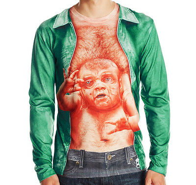 Mens Total Recall Kuato Mutant Twin Alien Stomach Baby Halloween T-Shirt S-Large](Baby Twins Halloween)