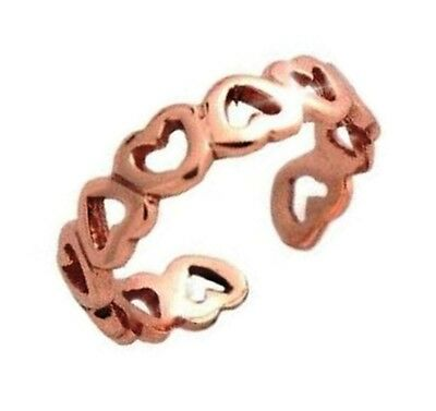 Love Toe Ring Eternity Heart Gift Box Body Jewelry 14k Rose Gold over 925 SS 14k Love Toe Ring