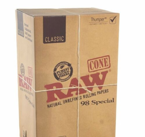 RAW Classic 98 special Size Pre-Rolled Cones (100 Pack)