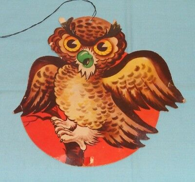 vintage Halloween OWL ON TREE BRANCH decoration - Halloween Decorations Tree Branches