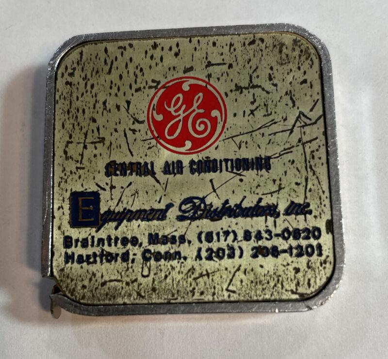 Vintage General Electric Equipment Dist Metal Tape Measure Advertising Mass CT