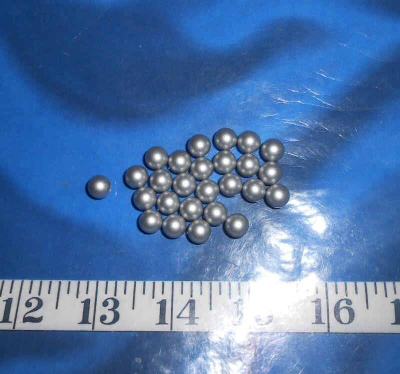 ~ Pearls ~ Vintage ~25 8mm Acrylic ~*NO-HOLE*~ Shellcraft~ Sailor