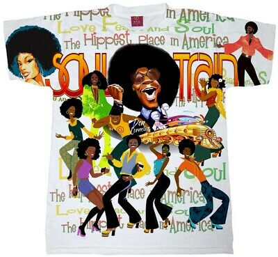 Soul Train T Shirt. Sublimation Mens, Ladies And Youth Sizes. Don Cornelius Tee