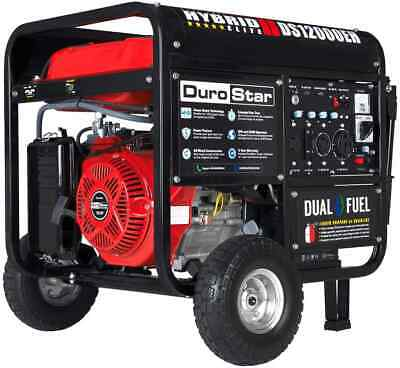 Durostar Ds12000eh 12000-w Portable Dual Fuel Gas Generator With Electric Start