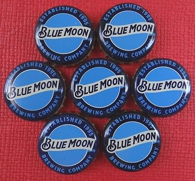 LOT OF 50 BLUE MOON BREWING ALE BEER BOTTLE CAPS NEW STYLE CRAFTS HOBBY CRAB ART