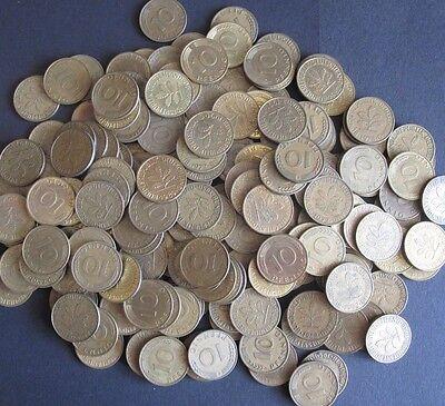 100 x 10 Pfennig Münzen für alte Automaten, Geldspielgeräte usw.