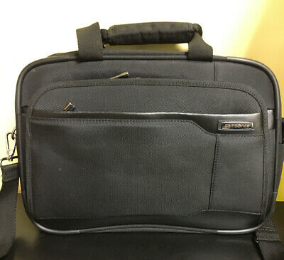 Samsonite Laptop Shuttle Business Case Computer Bag 16 Inch Black Nylon