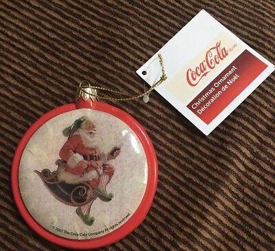 Coca Cola Xmas Ornament 2007 Kurt Adler
