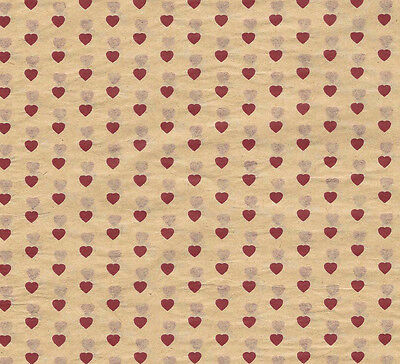 Tiny Red Hearts Tissue Paper # 435 ~ 10 Large Sheets
