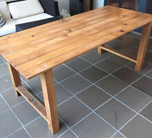 6 Seater Timber Table Newstead Brisbane North East Preview