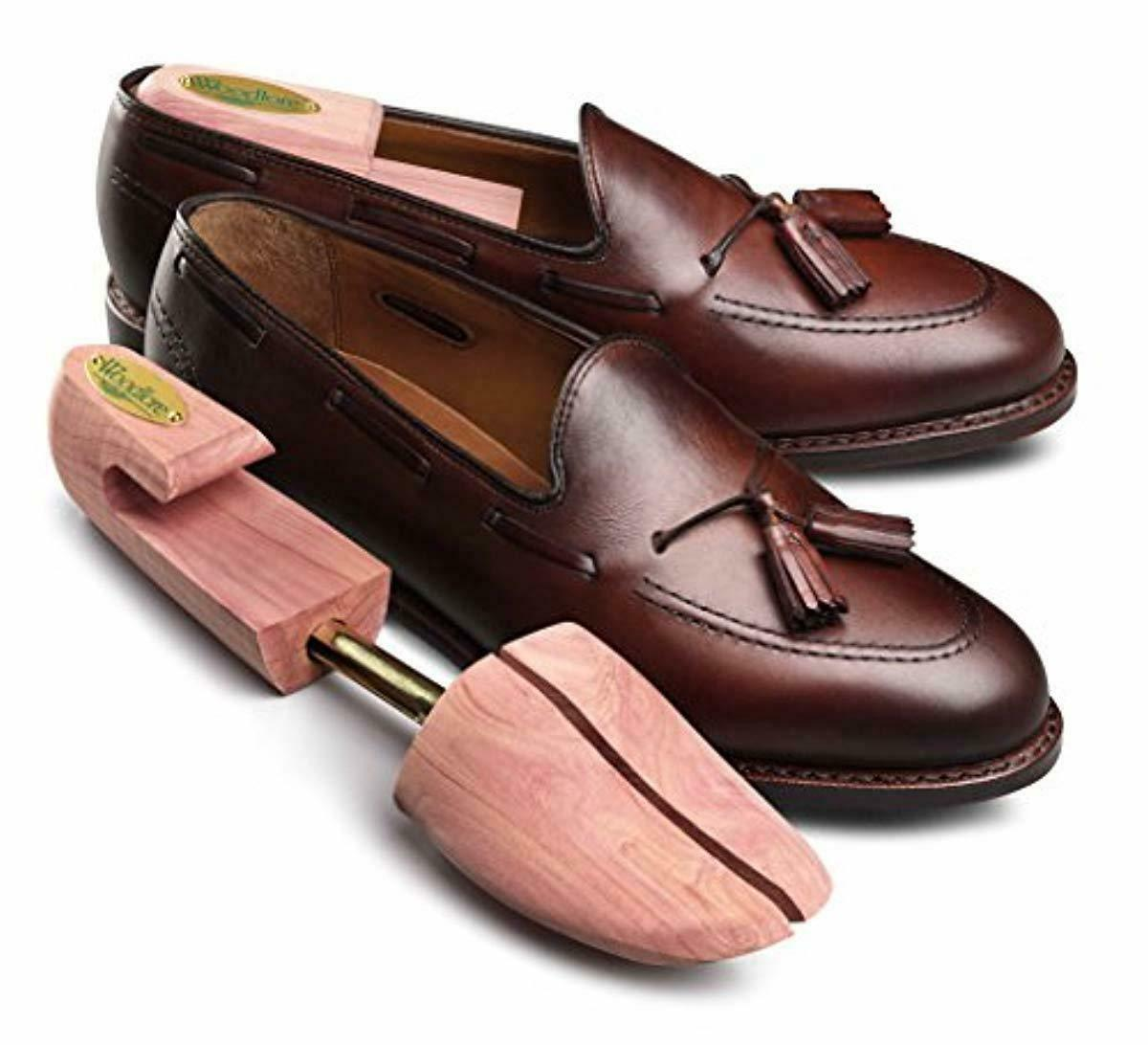 Aromatic Men's Shoe Tree Stretcher 2-Pack 4pcs Natural Red