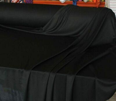 schwarz T-Shirt-JERSEY leichter Baumwoll-Stoff elastische Meterware 160cm breit