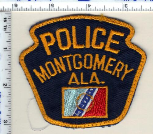 Montgomery Police (Alabama) Shoulder Patch - uniform take-off from 1989