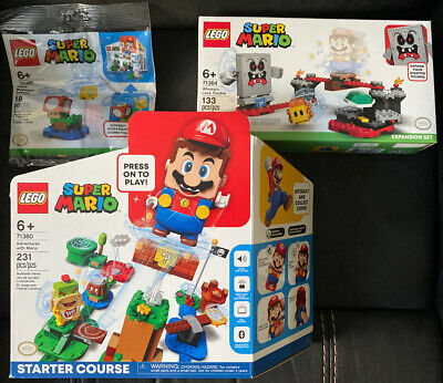 LEGO Super Mario Starter Course 71360 / 71364 / 30385 Bundle Of 3 Sets New