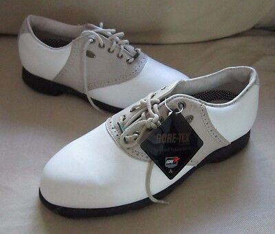 Damen Sattel Schuhe (Neu Etonic Unterschied 2000 Golf Sattel Damenschuhe 7N Goretex Stollenlose)