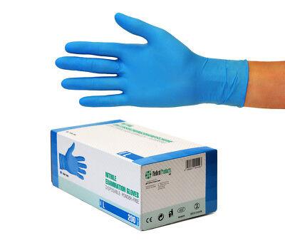 Nitrilhandschuhe Einweghandschuhe Einmalhandschuhe 10x200 Stück Gr L Nitril blau