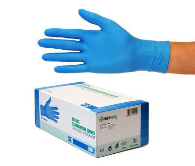 Nitrilhandschuhe Einweghandschuhe Einmalhandschuhe 10x200 Stück Gr S Nitril blau