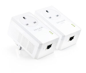 TP-Link-AV200-Powerline-Adapter-with-AC-Pass-Through-Starter-Kit-Home-plug-2-pak