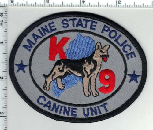State Police (Maine) K-9 Shoulder Patch from the 1980