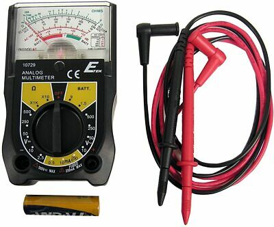 E-tek 10729w Electrical Multi-meter Electric Tester Voltage Dc Ac Volt Battery