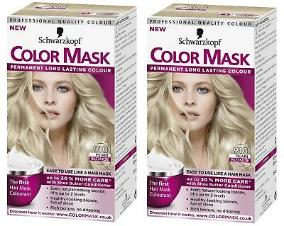2x Schwarzkopf Color Mask Permanent Colour 910 Pearl Blonde