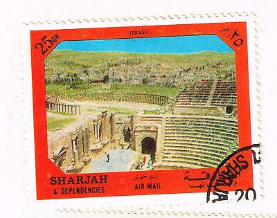 Sharjah Jerash Jordan Famous Roman Architecture Stamp 1972