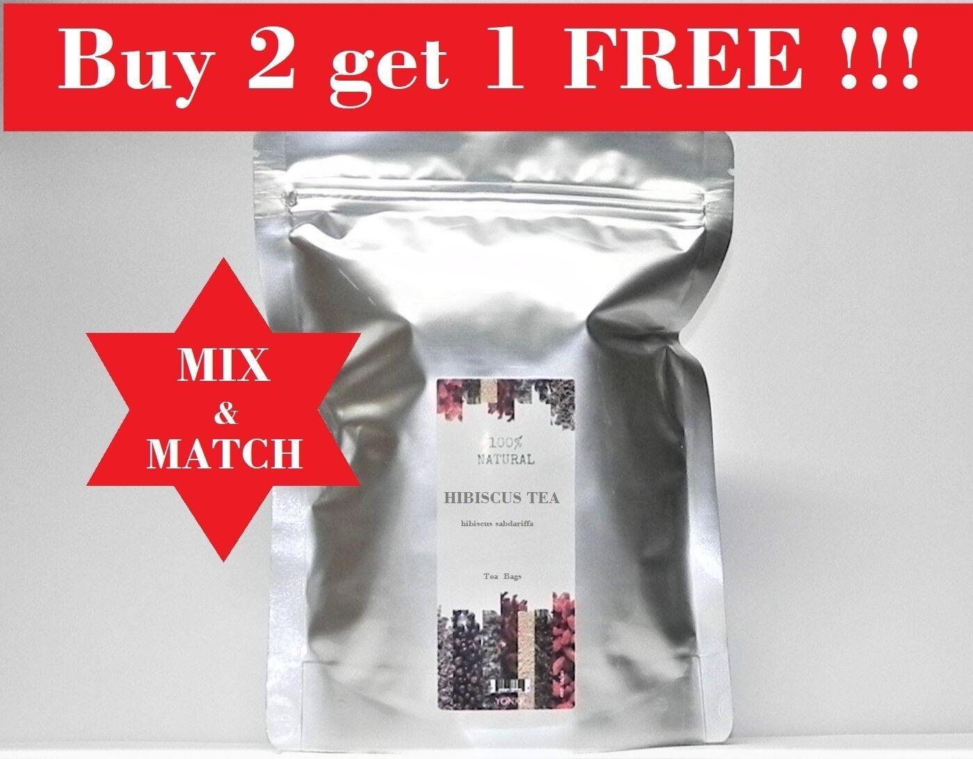 Hibiscus Flower Herbal Tea - 30 Tea Bags - Buy 2 get 1 Free
