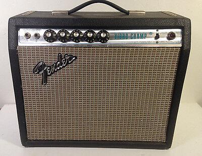 Vintage 1970s Fender Vibro Champ 5 Watt Tube Combo Amplifier Silverface