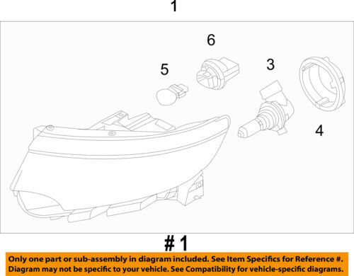 Details About Ford Oem   Edge Headlight Assembly Btzh