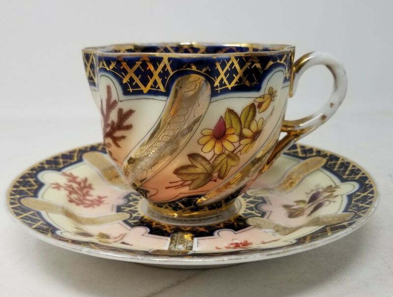 Brothers Schoenau Floral Cup and Saucer