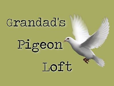 METAL SIGN GRANDADS PIGEON LOFT NOVELTY SIGN XMAS GIFT