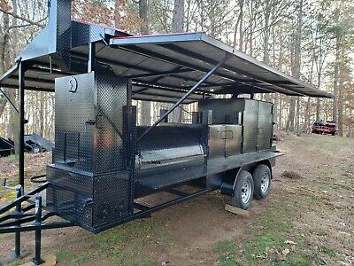 Mega T Rex Sink Roof Bbq Smoker Cooker Grill Trailer Mobile Food Truck Business