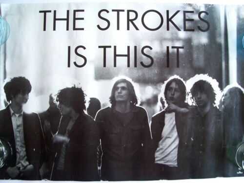 """THE STROKES 2001 POSTER IS THIS IT 27"""" x 19"""" Julian Casablancas RCA"""