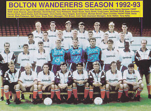 BOLTON-WANDERERS-FOOTBALL-TEAM-PHOTO-1992-93-SEASON