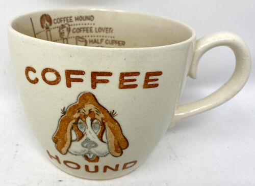 Vintage Coffee Hound Mug Cup Mug Measuring Level Caffeine Level Tea Coffee Lover