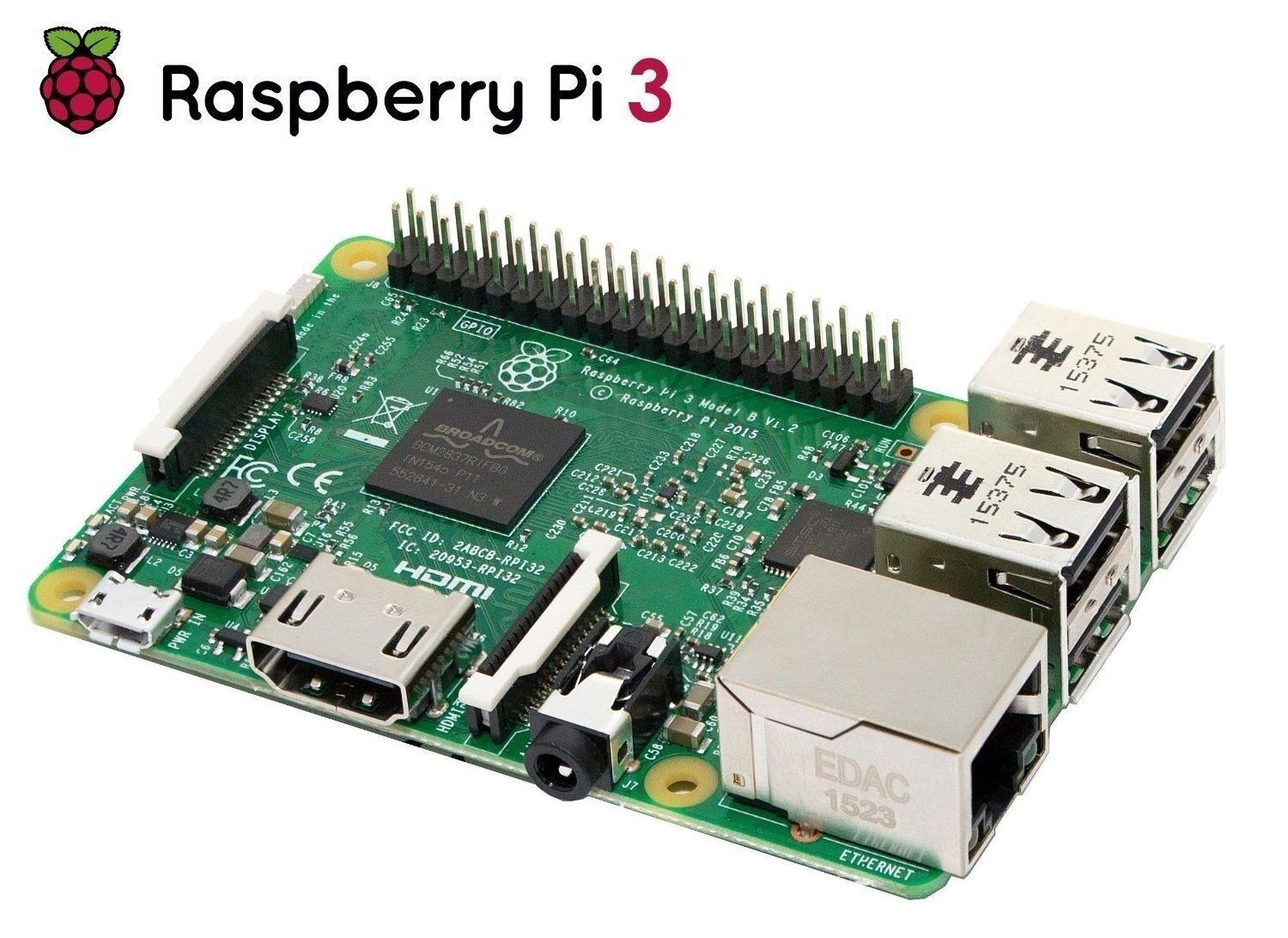 Raspberry PI 3 Model B Quad Core 64 Bit 1GB WIFI Motherboard