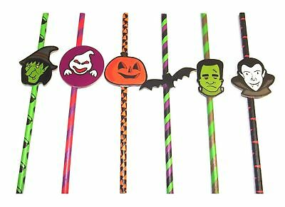 Spooky Drinks For Halloween Party (12 x Drinking Straws Halloween Spooky design, great for)