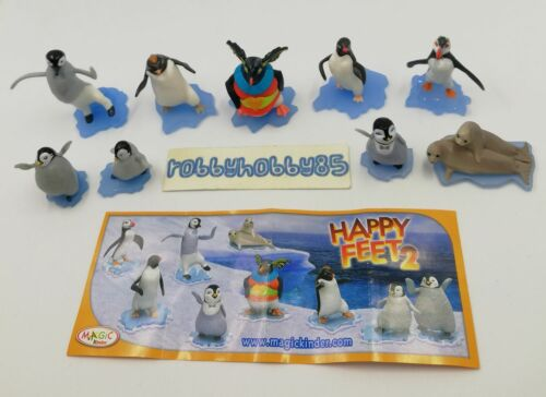 HAPPY FEET 2 COMPLETE SET WITH ALL PAPERS KINDER SURPRISE 2012 FERRERO