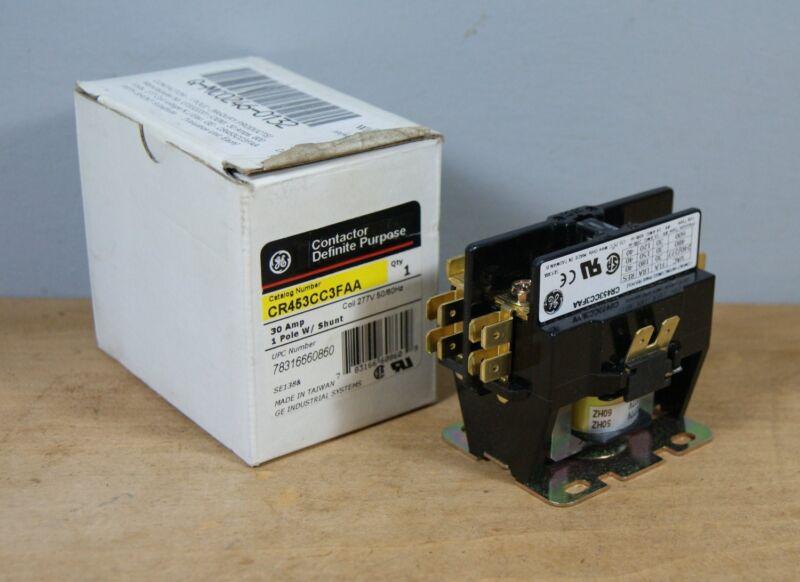 NEW GE CR453CC3FAA Definite Purpose Contactor 30 Amp, 1 Pole, w/ Shunt, L-0705
