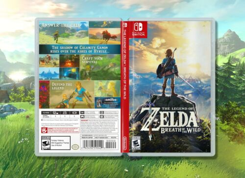 The Legend of Zelda Breath of the Wild: Replacement Case for Nintendo Switch