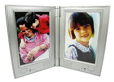 Dual Recording Talking Photo Table Picture Frame Memories You Can Hear! Silver