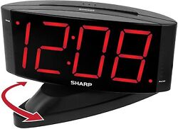 Digital Alarm Clock Easy to Read Large Numbers High Quality Swivel Base